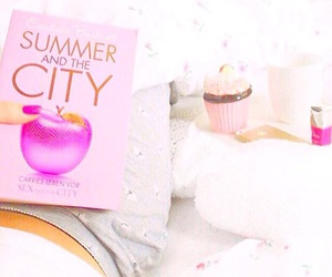 girly, pink, and white image