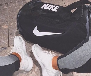 nike, bag, and shoes image