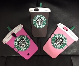 starbucks, pink, and case image