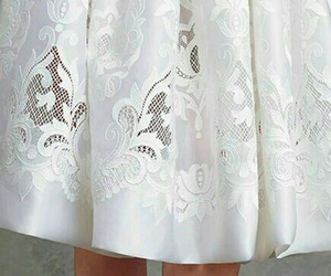 dolce and gabbana, skater dress, and white lacey dress image