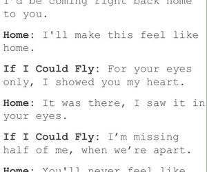 home, Lyrics, and if i could fly image