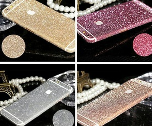 glitter, pink, and golden image