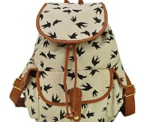 backpack and birds image