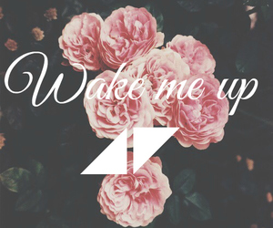 flowers, wake me up, and rose image
