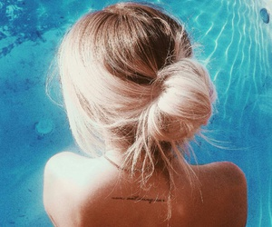 hair and pool image