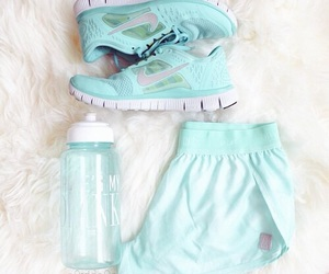 nike, blue, and fitness image