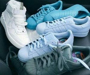 adidas, shoes, and blue image