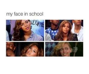 school, beyoncé, and funny image