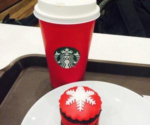starbucks, christmas, and red image