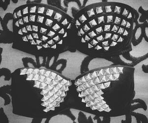 fashion, bra, and black image