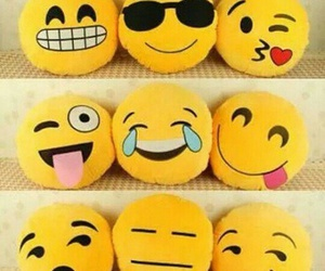 emoji, pillow, and yellow image