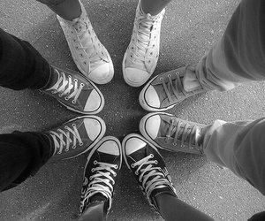 converse, friends, and all star image