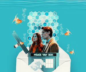 doctor who, eleven, and amy pond image