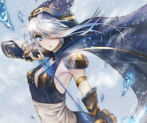 anime, ashe, and league of legends image
