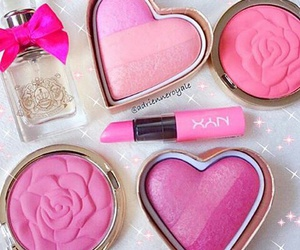 girly, makeup, and pink image