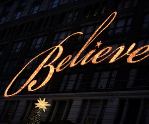 light, believe, and christmas image
