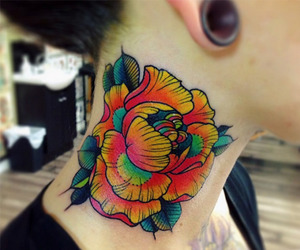flower tattoo, cute tattoo, and ink image