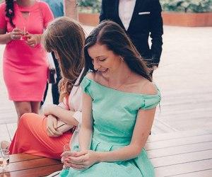 brunette, longhair, and wedding image