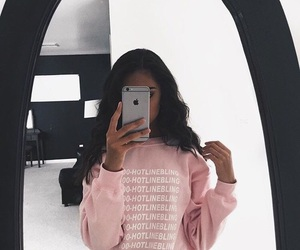 pink, Drake, and iphone image