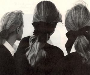 girl, hair, and bow image