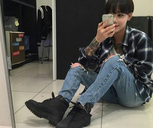 fashion, girl, and tomboy image