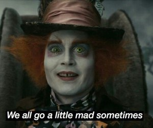 alice in wonderland, mad, and crazy image