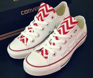 converse, red, and white image
