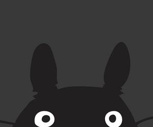 wallpaper, totoro, and black image