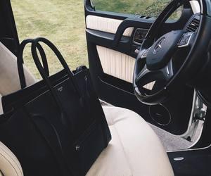 bag, car, and black image