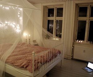 bed, comfortable, and girl image