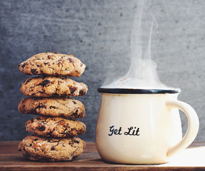 food, Cookies, and coffee image