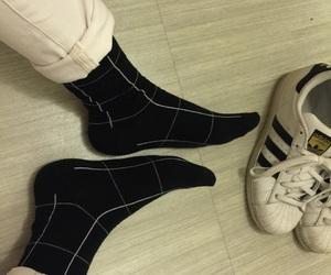 adidas, aesthetic, and blackandwhite image