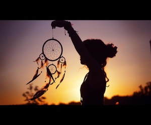 girl, Dream, and dreamcatcher image