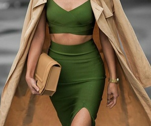 fashion, green, and clothes image