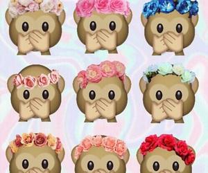 wallpaper, monkey, and emoji image