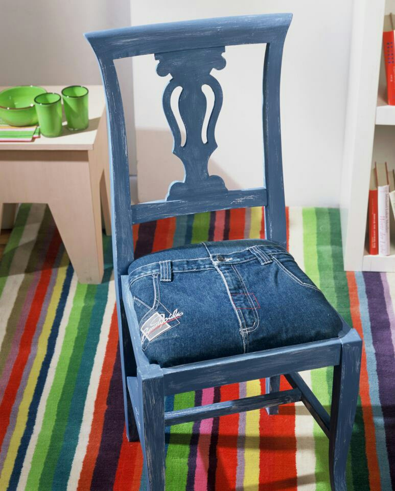 chair, diy, and jean image
