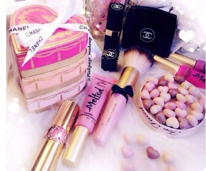 makeup, pink, and chanel image