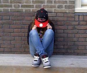 chicago bulls, dope, and girl image