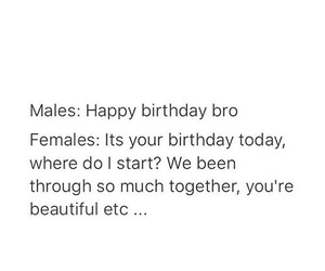 birthday, female, and male image