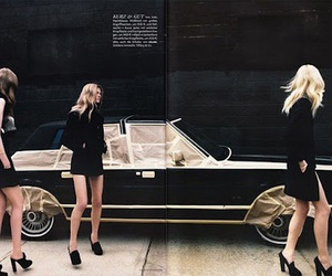 fashion, model, and car image
