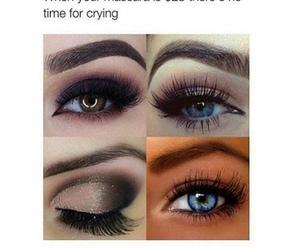 makeup, mascara, and funny image