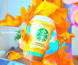 starbucks, tumblr, and autumn image