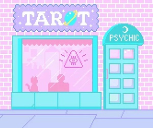 pastel, pixel, and tarot image