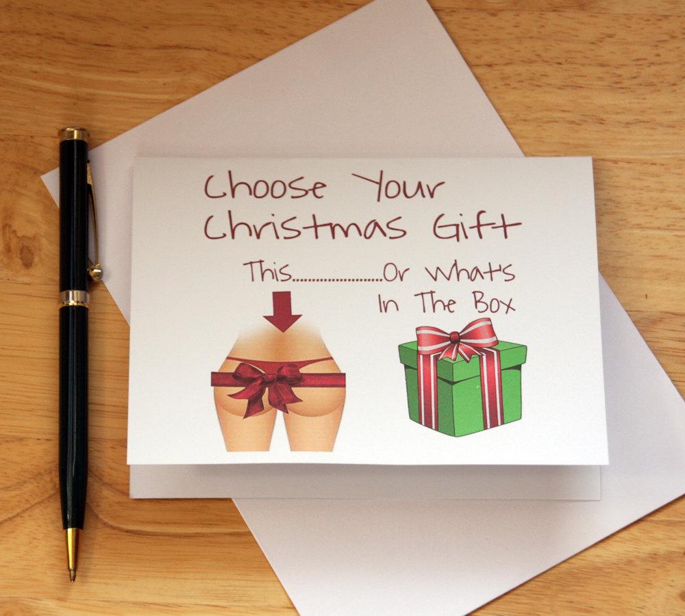 Naughty Christmas Card, Dirty Card, Card For Boyfriend, Card For ...