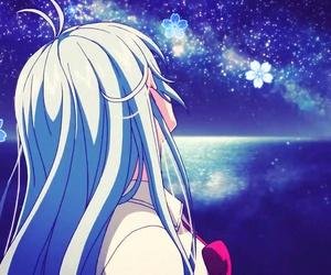 anime girl, blue hair, and touwa erio image