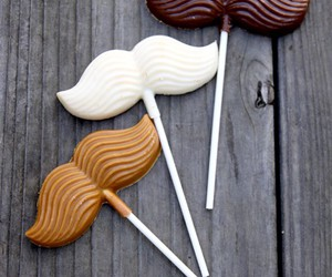 chocolate, food, and mustache image