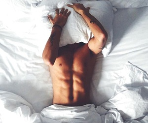boy, bed, and abs image