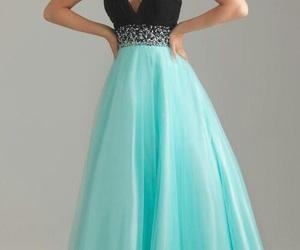 dress, prom dress, and pretty image