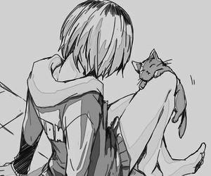 haikyuu, anime, and cat image
