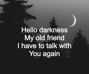 Darkness, quotes, and sad image